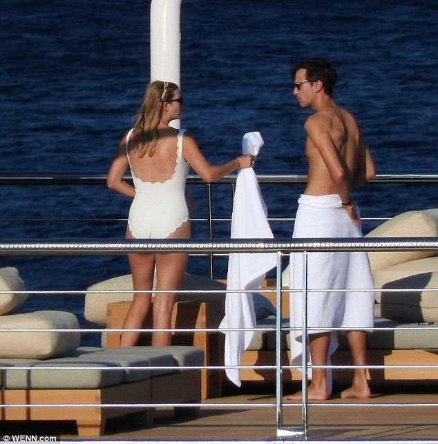 The couple love a warm-weather getaway, having jetted off to Croatia in August to spend some time on David Geffen's yacht (above)