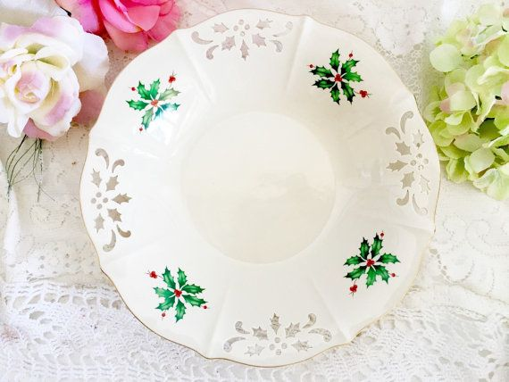 lenox holiday pierced low bowl christmas holiday fine china lenox serving bowl christmas bowl christmas serving bowl