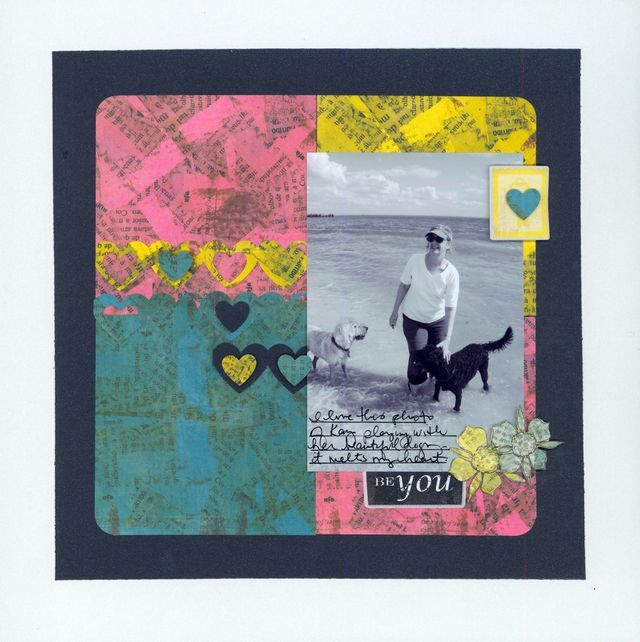 Midnight Shimmer And NOD Love #Scrapbooking Layout From