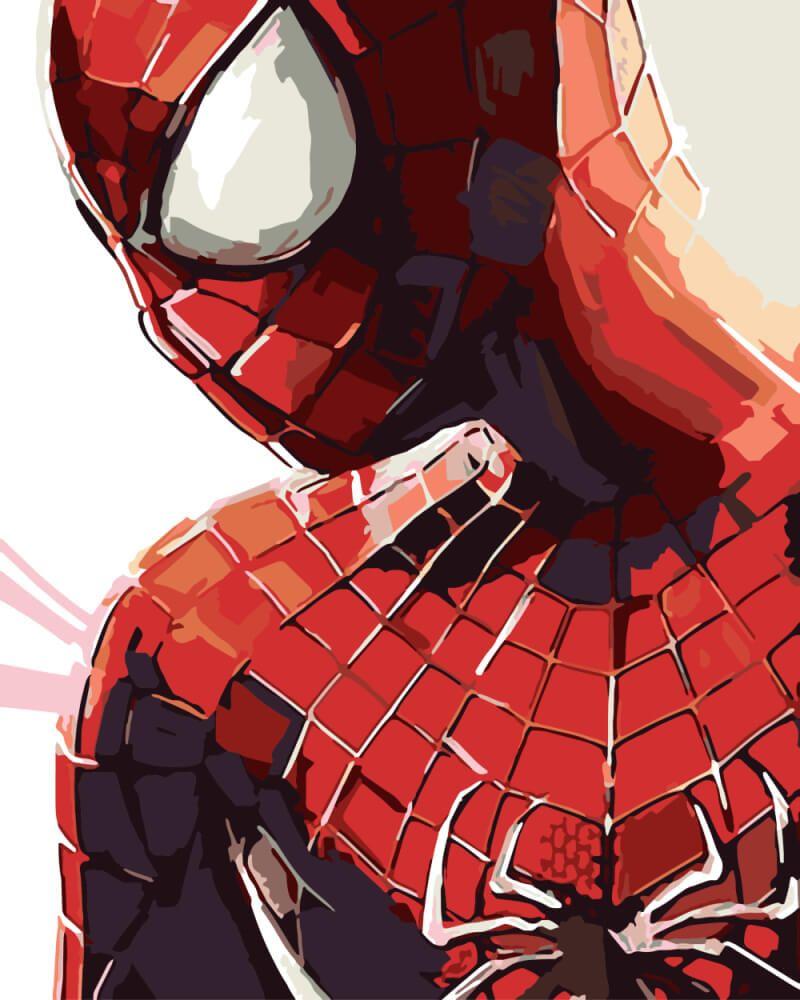 Набор для рисования по номерам Человек-Паук, арт. BK ...
