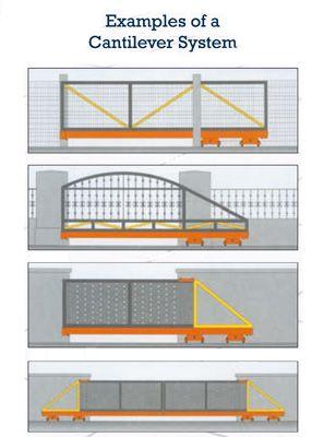 examples of cantilever gate sliding gate track google. Black Bedroom Furniture Sets. Home Design Ideas