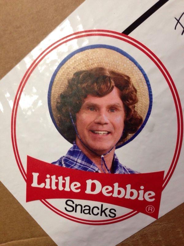 Little Debbie Will Ferrell Snack Will Ferrell Lil Debbie Funny Memes