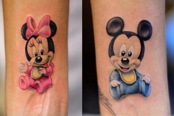 Baby Minnie Tattoo With Taliyahs Name Underneath Tattoos 3
