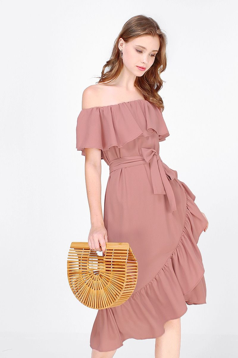 51eca2b7bb7c Jewell Ruffle Off Shoulder Dress