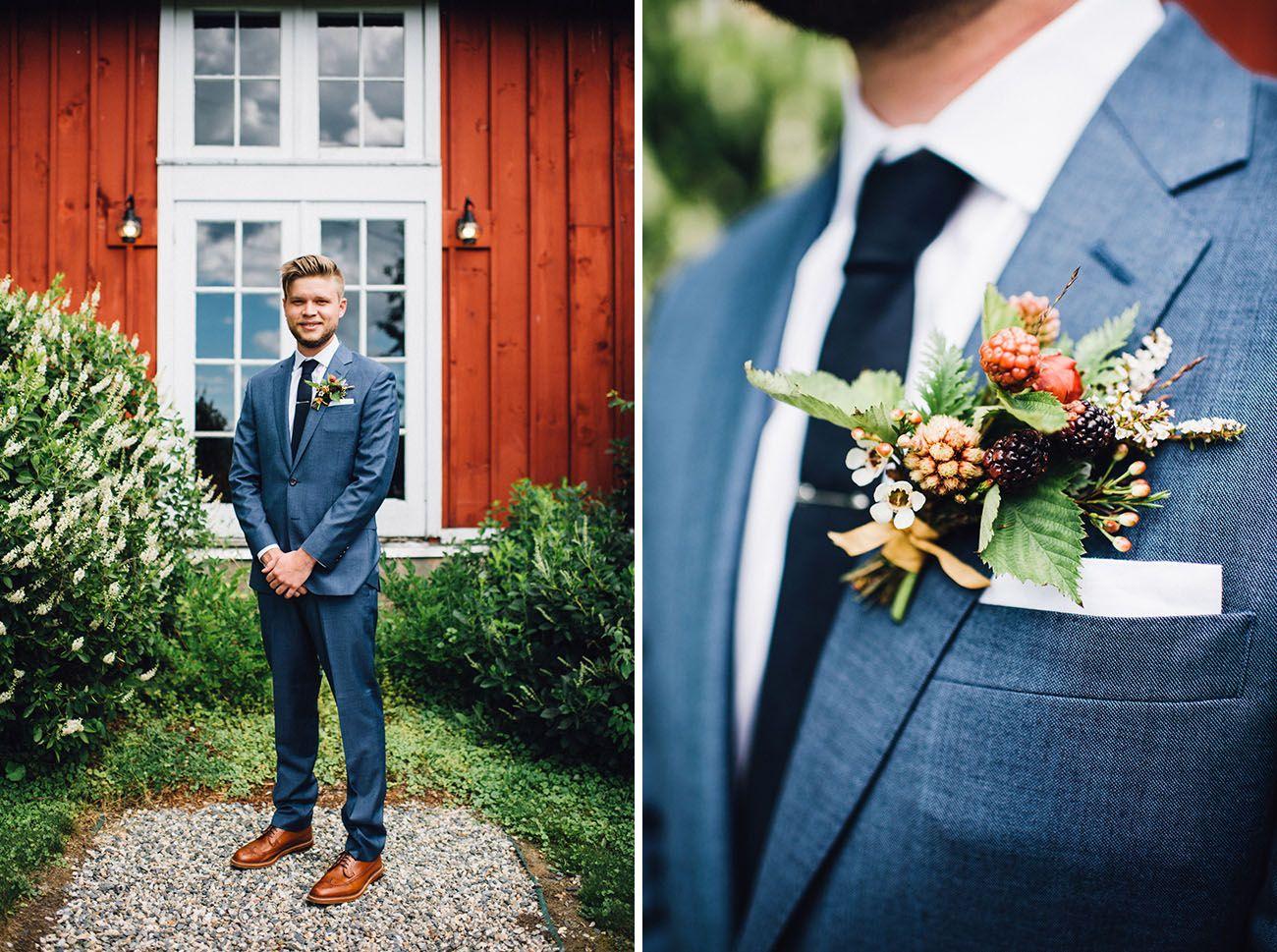 Rustic-Romantic Vermont Farm Wedding: Rawan + Adrian | Navy groom ...