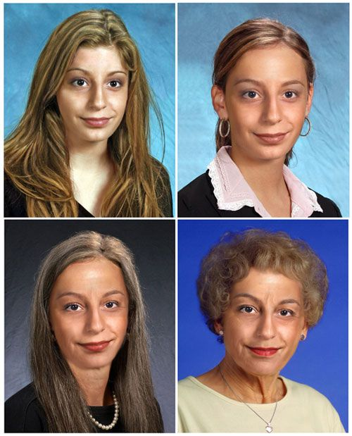 woman age progression