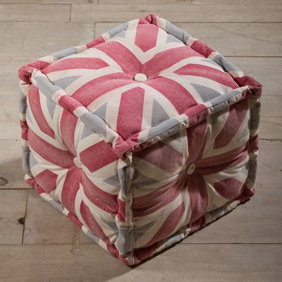 CG Sparks Union Jack Cotton Cube Ottoman Great Ideas