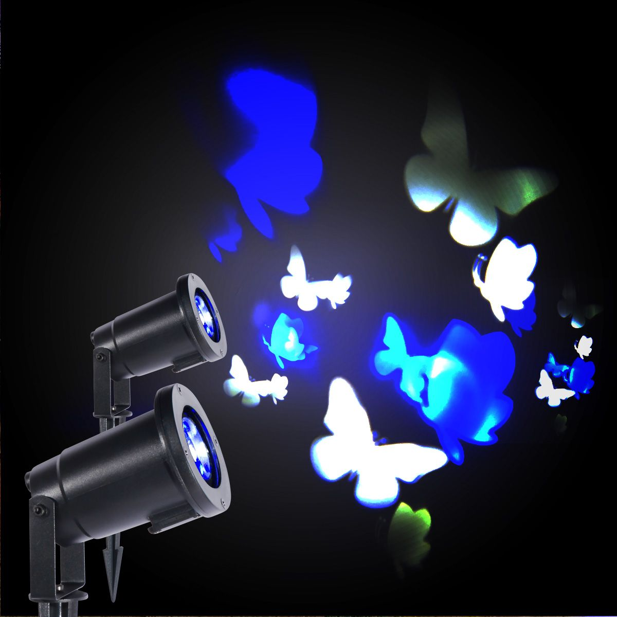 Landscape Projector Light The Lamp Project Moving Blue And White Butterflies Images On The Wall Create A Vital Wor Landscape Spotlights Lamp Light Project