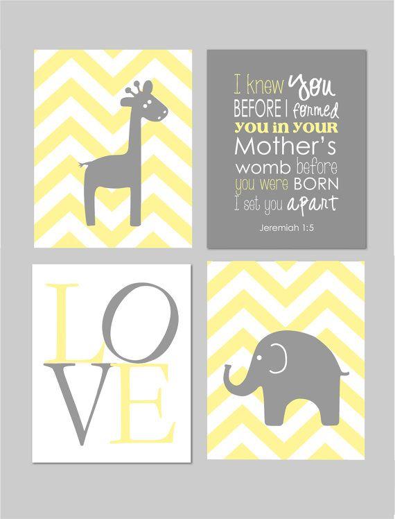 Yellow and Grey Nusery, Jeremiah 1 5, Elephant Nursery. Before You ...