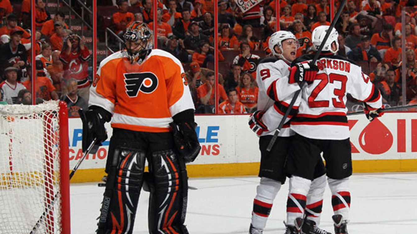 New Jersey shocks the Flyers to set up the east division