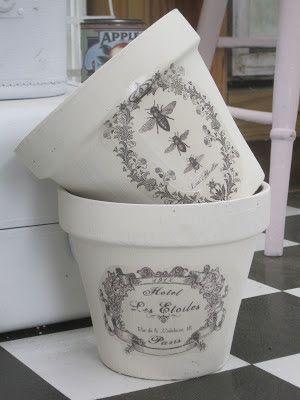 Chalk Paint Flower Pots – Painted flower pots