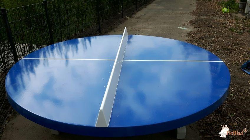 Pingpongtafel Rond Blauw bij Noachschool in Schoonrewoerd