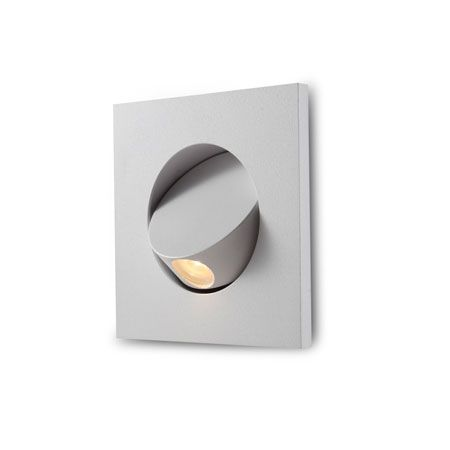 Recessed 3 watt LED headboard reading light with built in tilting switch  system. Great for