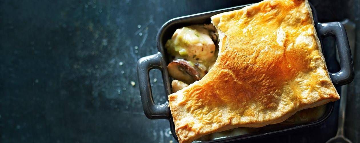 Chicken And Mushroom Pie Recipe Waste No Taste Pinterest