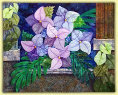 hibiscus flower quilt - Google Search