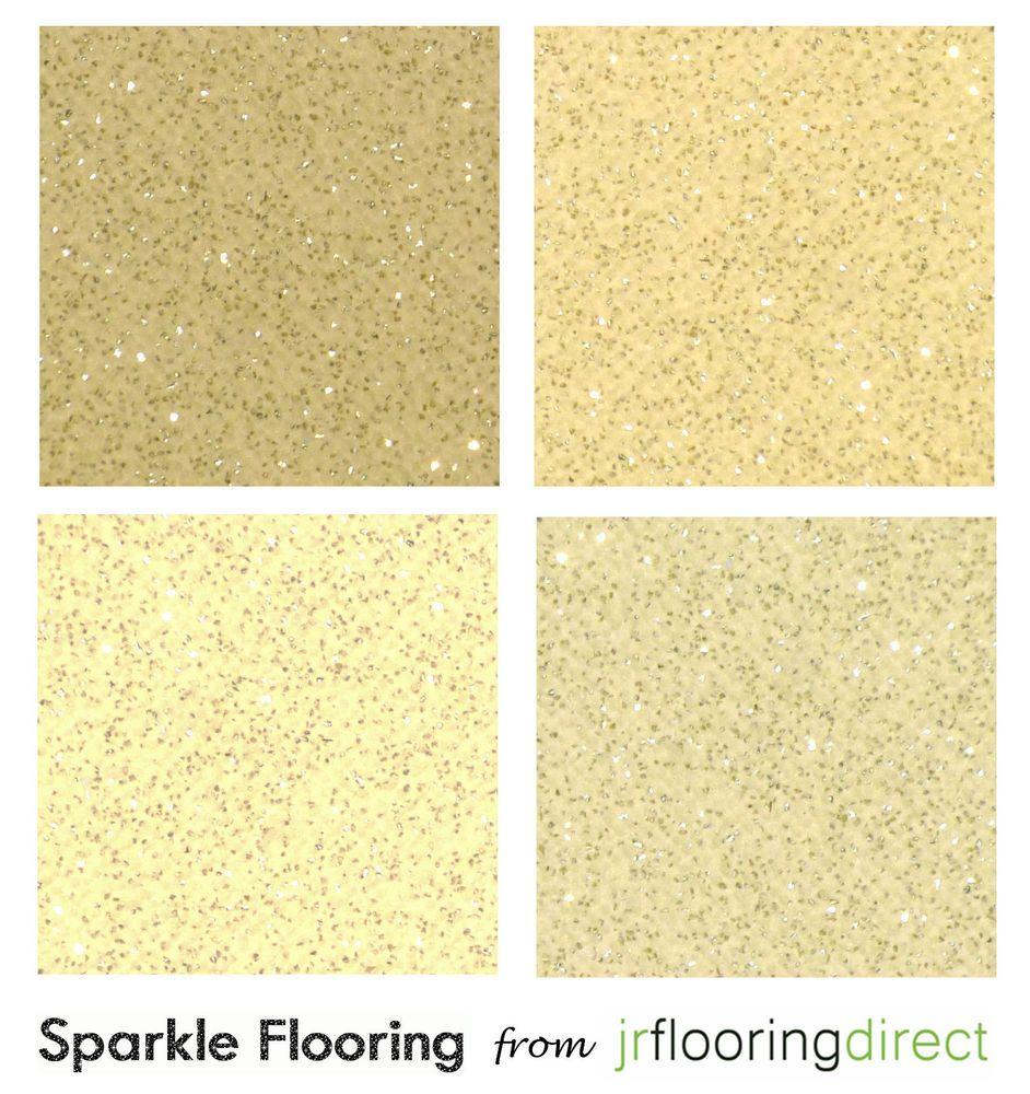 Beige Cream Sparkly Flooring Glitter Effect Vinyl