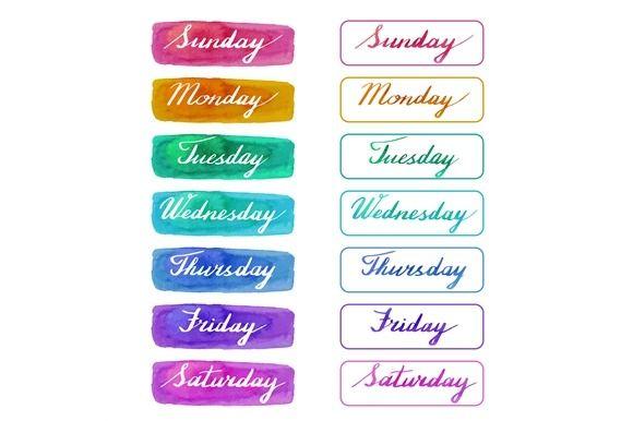 Handwritten Days Of The Week Lettering Design Freebie Lettering Fonts