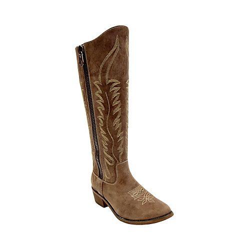 GRACED TOBACCO LEATHER women's boot flat western - Steve Madden