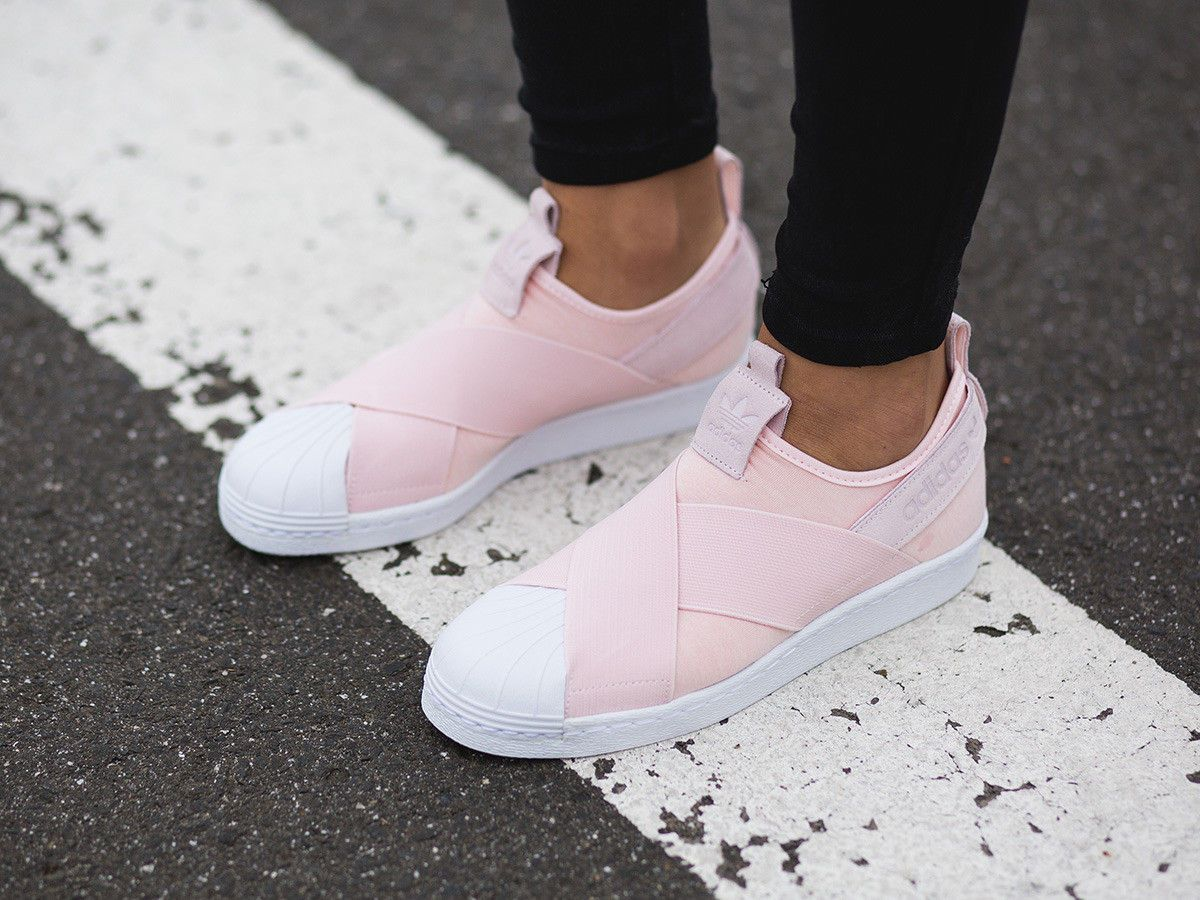 Adidas Originals Superstar Slip On Halo Pink S76408 Women ...
