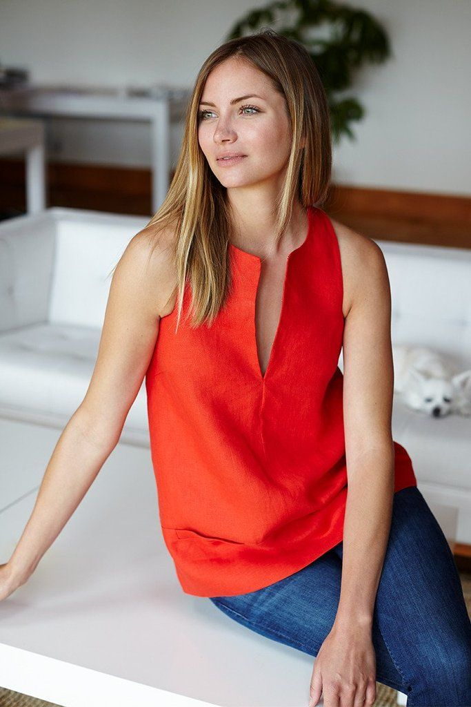 A Line Mod Top - Warm Red #emersonfry