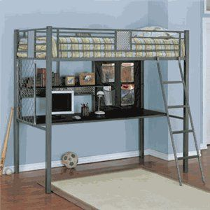 Powell Monster Bedroom Study Loft Bed, Twin at http://suliaszone.com/powell-monster-bedroom-study-loft-bed-twin/