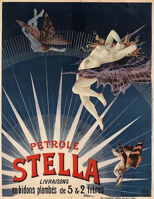Pétrole Stella (gasoline), advertising poster by Henri Boulanger Gray, 1897