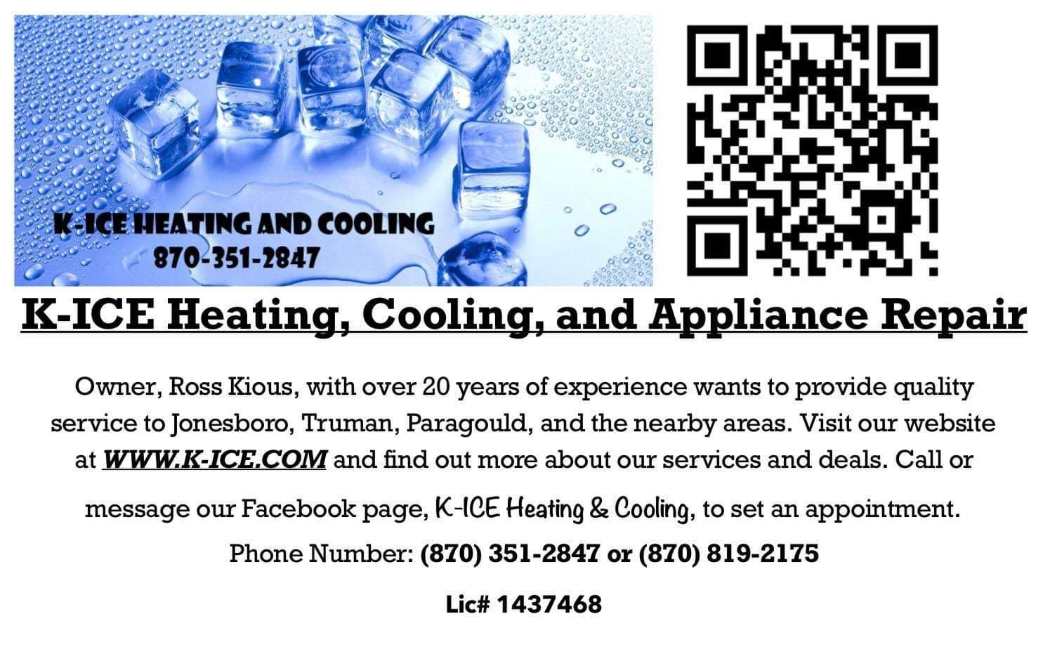 K Ice Heating And Cooling Heating Cooling Appliance Repair
