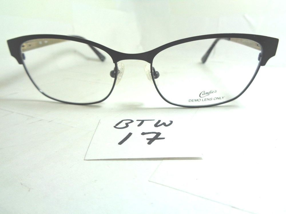 New CANDIES Eyeglass Frame CA108-001 Black Gold Cat Eye Shape (BTW ...