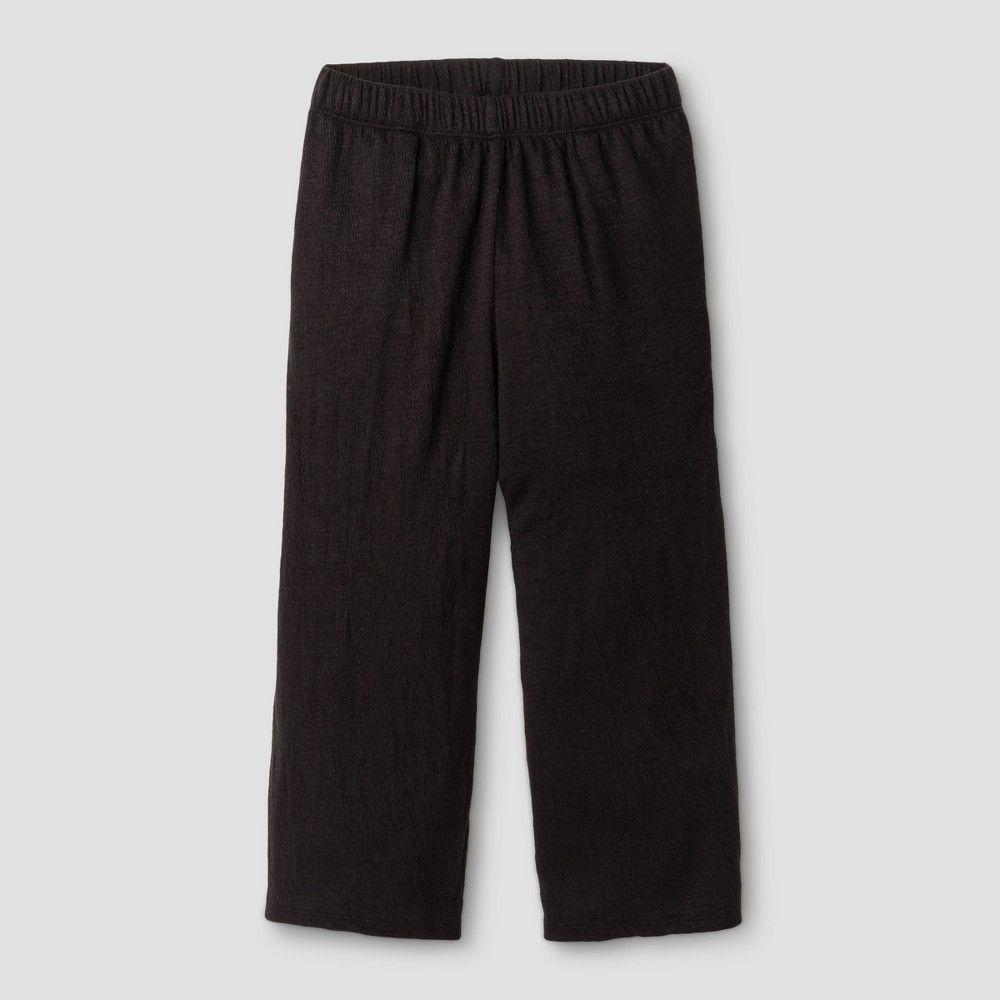 Girls' Cropped Pant Art Class - Black XL