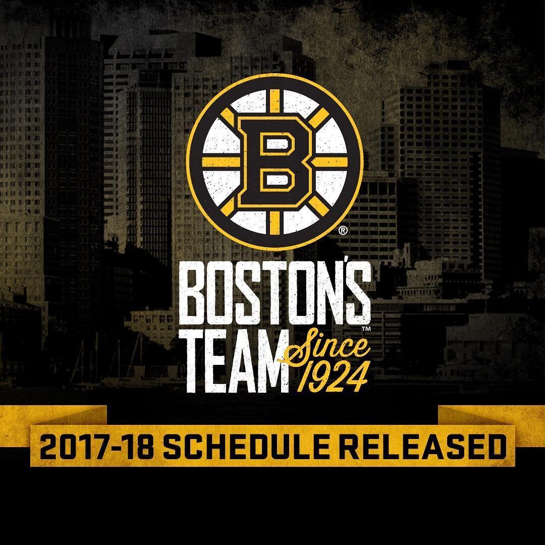 The Bruins 2017-18 Regular Season Schedule Has Been
