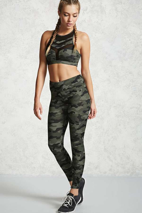 767e07685a7f5 $19.90 - Very cool FOREVER 21+ Active Camo Print Leggings | Shop and ...