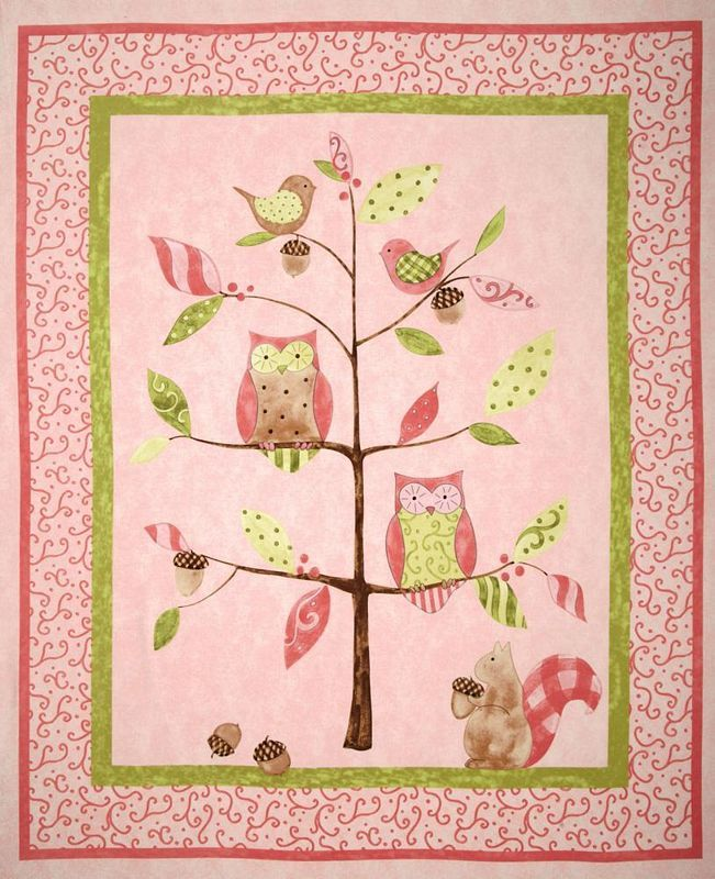 Owl Quilt Pattern | Owl Tree Nursery Quilt/Cot Panel - (OWLT190912 ... : baby cot panels for quilting - Adamdwight.com