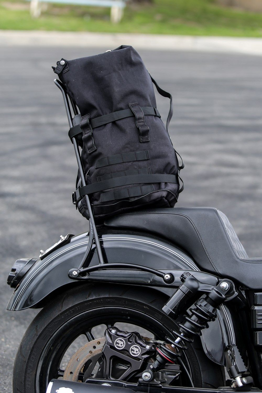 Motorbike Sissy Bar Bag Leather Sissy Bar Bag Bikers Harley Style Saddlebags
