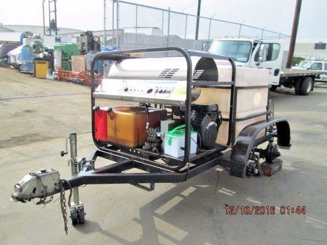 HYDRO TEK PORTABLE COMMERCIAL HIGH PRESSURE WASHER W/TRAILER VANGUARD 15HP TWIN #HYDROTEK