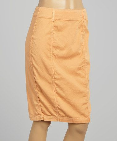 Look at this #zulilyfind! Melon Dolce De Amour High-Waist Pencil Skirt - Women by Agave Denim #zulilyfinds