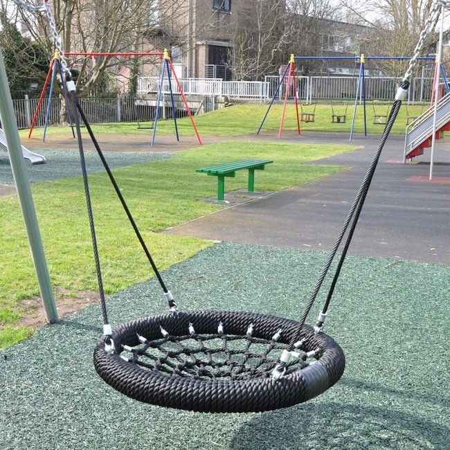 Birds Nest Style Children's Group Swing Seat 1 0m Diameter With Two Point Rope And Stainless Steel Tail Suspension is part of Nest swing -  Blue Black