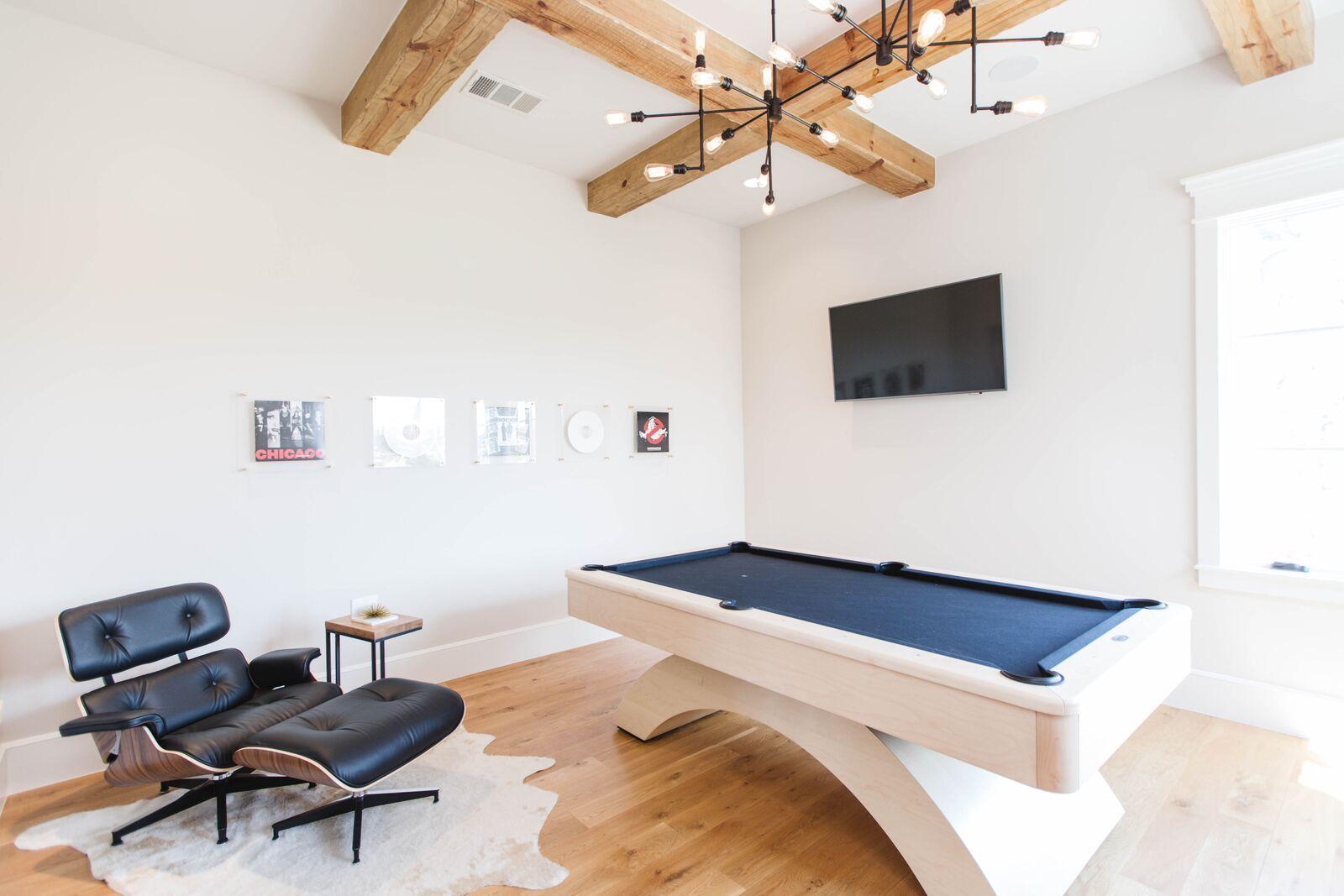 Billiard room. Design: Urbanology designs/ pool table: billiard ...