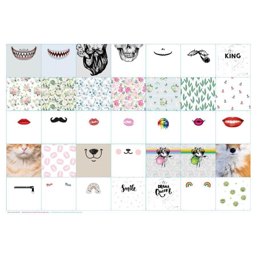 Anleitung für unseren Smile Behelfsmasken Stoff   Blog • alles-fuer-selbermacher