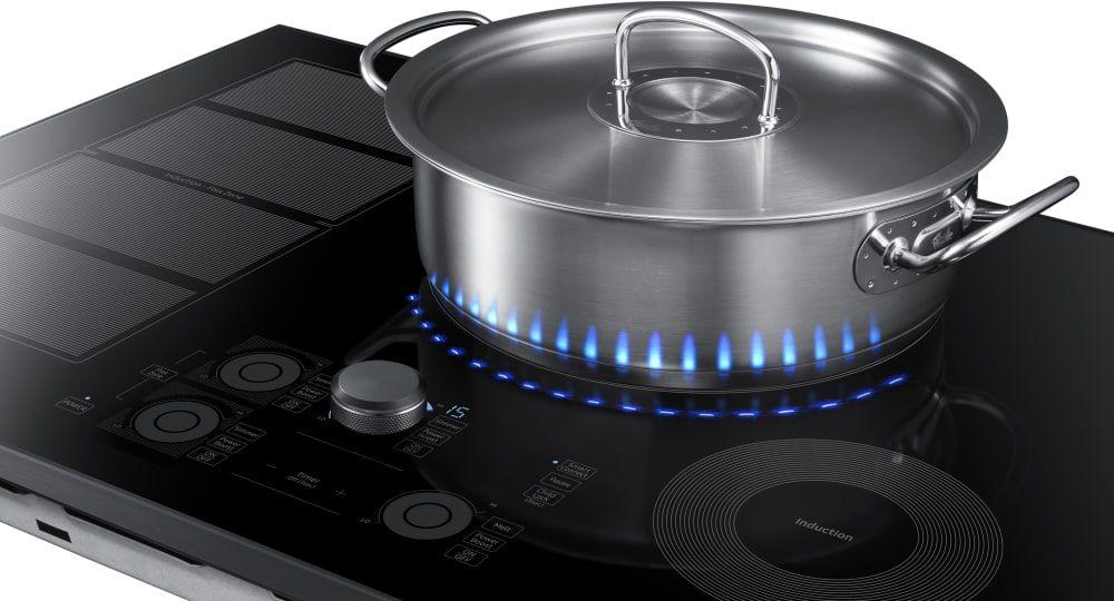 Samsung Nz30k7880u 30 Inch Induction Cooktop With Flex Zone 15 Heat Settings Power Boost Melt Mode Simmer Cont Induction Cooktop Induction Cookware Cooktop