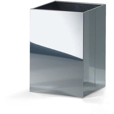 Agm Home Store Square Top Stainless Steel Open Waste Basket Colour
