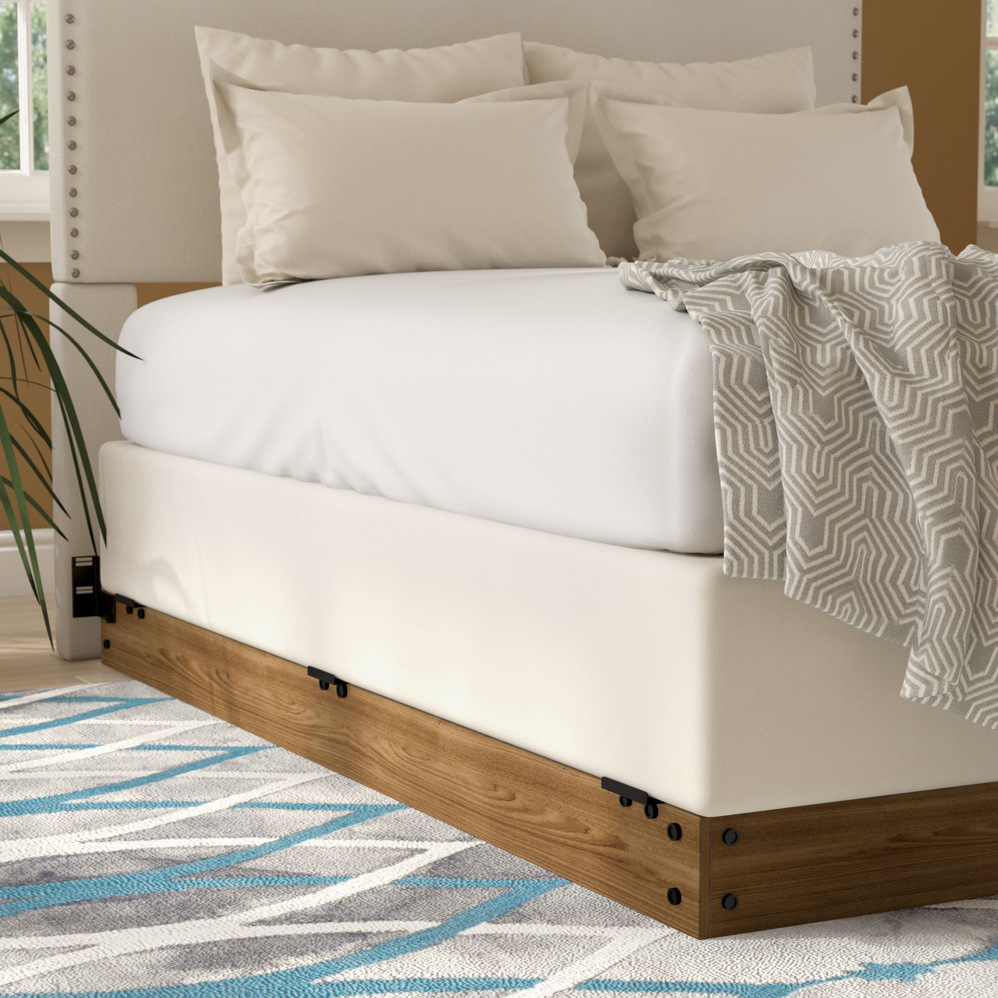 Wood Bed Frame Home Interior Design Ideas In 2020 Wood Bed Frame Bed Frame Box Bed Frame