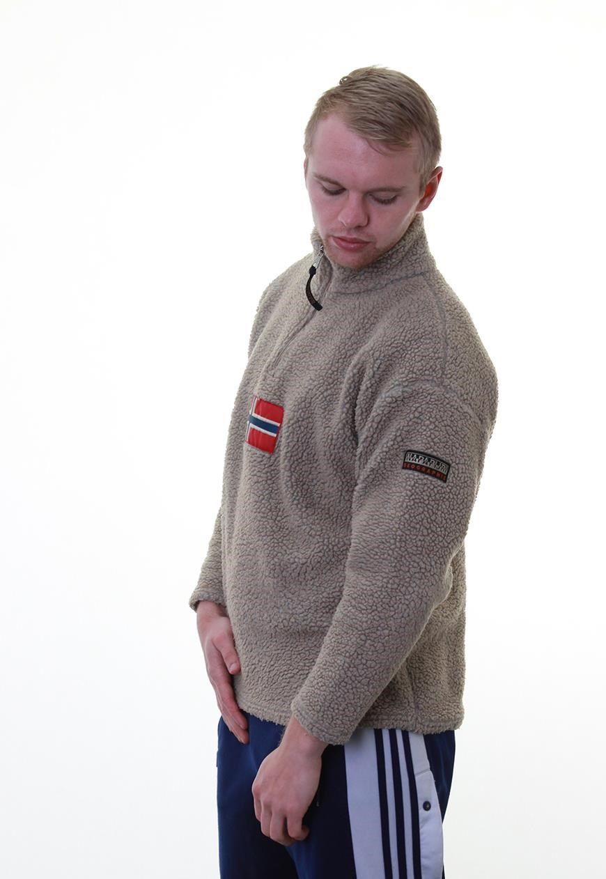 detailing delicate colors high quality Vintage Napapijri 1/4 Zip Fleece   Jackets for men