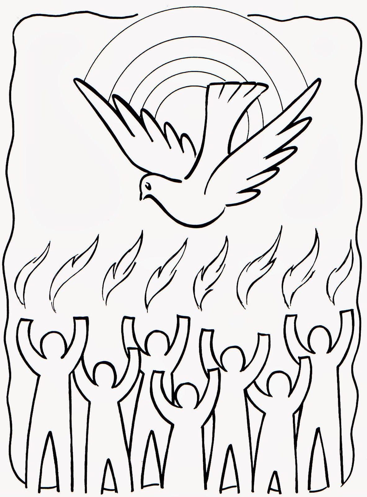 espiritu-santo-para-colorear.jpg (1183×1600) | Komunia Święta ...