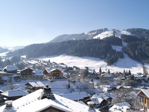 View from the balcony of More Mountain\'s The Loft in Morzine ...