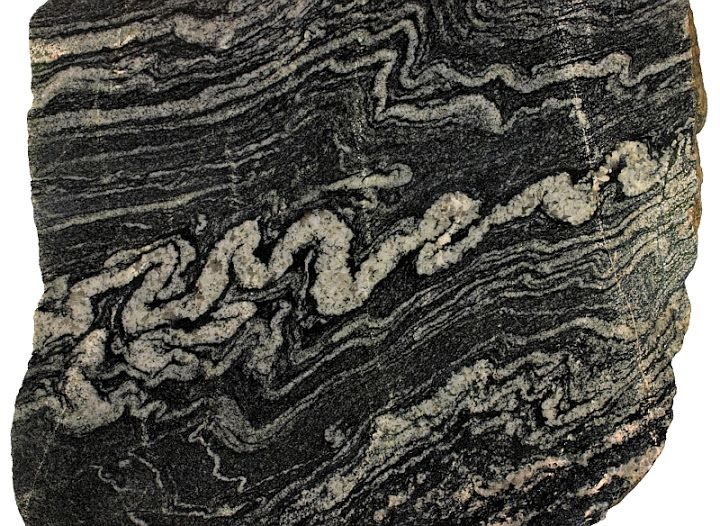 heavily folded migmatite or migmatitic gneiss, like my ...