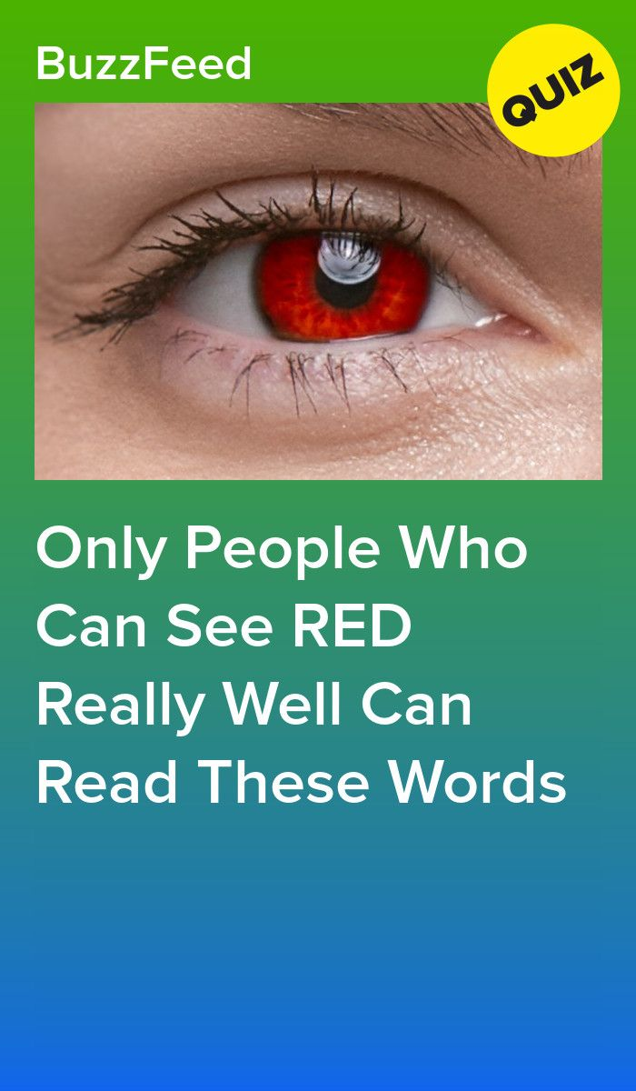 Only People Who Can See RED Really Well Can Read T