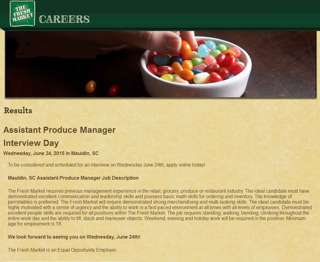 Assistant Produce Manager Job Mauldin Sc Grocery