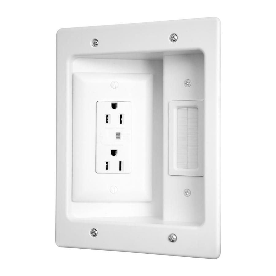 Legrand 2 Gang White Plastic New Work Old Work Standard Rectangular Wall Electrical Box Ht2102 Wh V1 In 2020 Recessed Lighting Electricity Flat Panel Tv