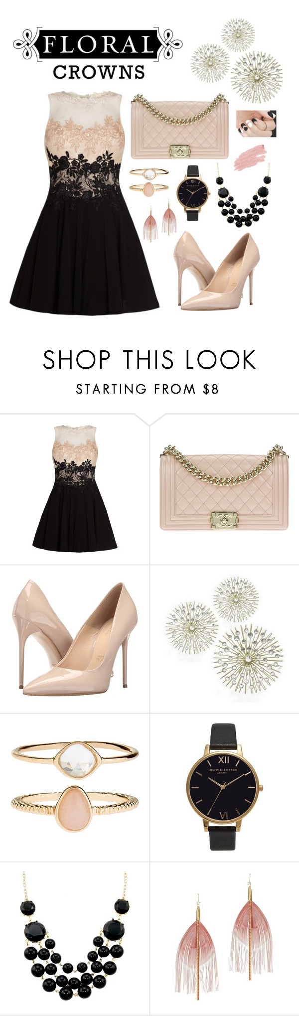 """""""FLORAL Crowns"""" by lamodaesvida-02 ❤ liked on Polyvore featuring Chanel, Massimo Matteo, Accessorize, Olivia Burton, Serefina and Jane Iredale"""