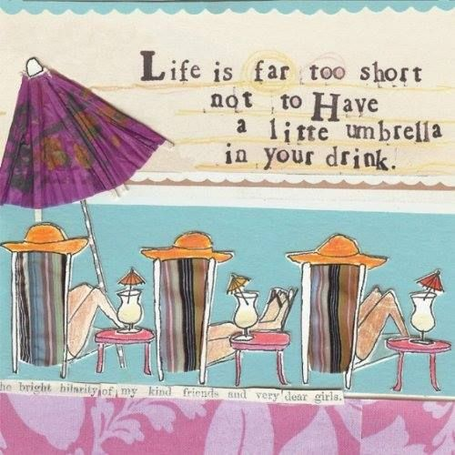 """""""Life is far too short not to have an umbrella for your drink."""" Cocktail Napkins $21.25"""